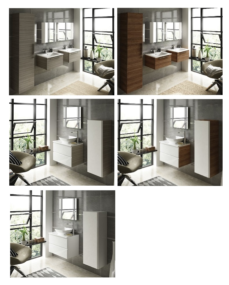 Simple Handleless Bathroom Furniture  Puntotre Arredobagno